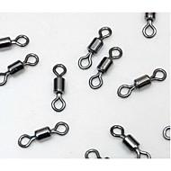 お買い得  釣り用アクセサリー-100 pcs スイベル / 釣りスナップおよびスイベル ステンレス鋼 / ステンレス鋼 / 鉄 一般的な釣り