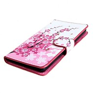 Plum Blossom PU Leather Case Cover with Stand and Card Slot for Sony Xperia E3 D2203 D2206