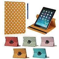 olcso iPad tokok-9,7 hüvelykes, 360 fokban elforgatható hullám pont mintázat állvánnyal esetben és a toll, mint ajándék ipad levegő 2 (vegyes színek)
