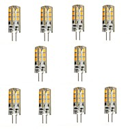 2W G4 LED Bi-pin Lights 24 leds SMD 2835 Warm White 200lm 2800-3200K DC 12V