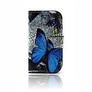 olcso Mobiltelefon tokok-Mert Kártyatartó / Pénztárca / Állvánnyal / Flip / Minta Case Teljes védelem Case Pillangó Kemény Műbőr Samsung Trend Lite