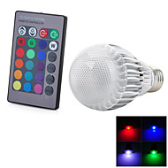 abordables LED e Iluminación-1pc 3 W 300-500 lm E26 / E27 Bombillas LED Inteligentes 1 Cuentas LED LED Integrado Control Remoto / Decorativa / Gradiente de Color RGB 85-265 V / Cañas