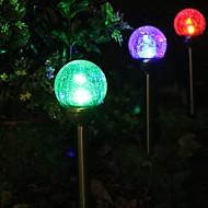 2 Renk değiştirme Güneş Crackle Glass Ball Stake Işık Bahçe lambası ayarlama