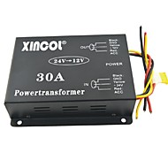 xincol® vehículo dc coche 24v de 30a 12v convertidor transformador de alimentación con ventilador de regulación y negro