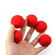 Zauberrequisiten - rot Schwammkugeln (5 Stück)