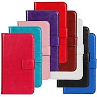 Недорогие Galaxy Trend Lite-Кейс для Назначение SSamsung Galaxy Кейс для  Samsung Galaxy Бумажник для карт со стендом Флип Чехол Сплошной цвет Кожа PU для Trend Lite
