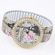 Dames Modieus horloge Armbandhorloge Vrijetijdshorloge Kwarts Legering Band Eiffeltoren Meerkleurig