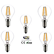 E14 LED Globe Bulbs A60(A19) 4 COB 400lm Warm White 2800-3200K AC 220-240V