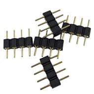 (5pcs) 4pin connettore maschio per rgb 5050/3528 ha condotto la luce di striscia la connessione