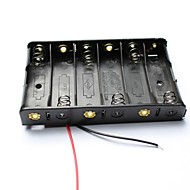 DIY 9V 6 x AA Battery Holder Case Box with Leads