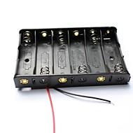 DIY 9V 6 x AA akkumulátor tartó ügyben doboz vezet