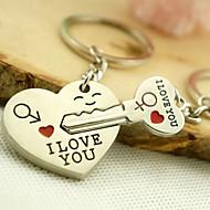 Romantická svatba klíčenka klíčenka pro milenec den svatého Valentýna (jeden pár)