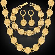 ieftine -Pentru femei Seturi de bijuterii femei Elegant extravagant Placat cu platină Placat Auriu cercei Bijuterii Argintiu / Auriu Pentru Nuntă Petrecere Zilnic Casual Sport / Cercei / Coliere / Brățară