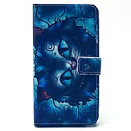 Недорогие Чехлы и кейсы для Galaxy Note-Кейс для Назначение SSamsung Galaxy Samsung Galaxy Note Бумажник для карт Кошелек со стендом Флип Чехол Мультипликация Кожа PU для Note 4