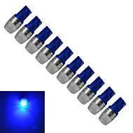 voordelige -10 stuks 0.5W 50lm T10 Sierlampen 1 LED-kralen Krachtige LED Blauw 12V
