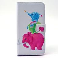 Для Кейс для  Samsung Galaxy Кошелек / Бумажник для карт / со стендом Кейс для Чехол Кейс для Слон Твердый Искусственная кожа SamsungS6