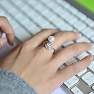Dames Bandringen Verstelbaar Luxe Sieraden Kostuum juwelen Parel Strass Gesimuleerde diamant Legering Sieraden Voor Bruiloft Feest