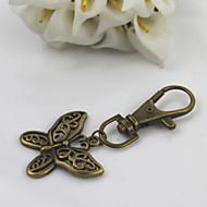 abordables Porte-clés-mode rétro unisexe alliage évider papillon pendentif porte-clés