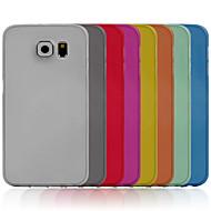Недорогие Чехлы и кейсы для Galaxy S-Кейс для Назначение SSamsung Galaxy Кейс для  Samsung Galaxy Ультратонкий Кейс на заднюю панель Сплошной цвет ПК для S6