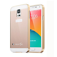 cheap Cases / Covers for Samsung-Case For Samsung Galaxy Samsung Galaxy Case Other Back Cover Solid Color PC for S5