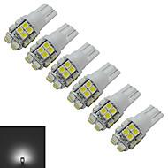t10 luz de decoração 20 smd 3528 85lm branco frio 6000-6500k dc 12v