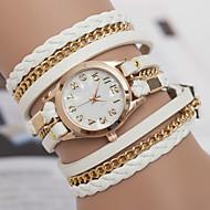 cheap Watch Deals-yoonheel Women's Bracelet Watch Hot Sale Leather Band Bohemian / Fashion Black / White / Brown