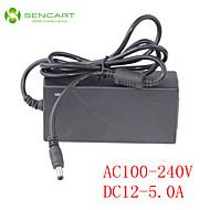 LED lys bar adapter input AC100-240V 50 / 60Hz output DC12V 5a skifte strømforsyning