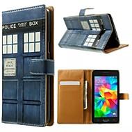 Для Кейс для  Samsung Galaxy Бумажник для карт / со стендом / Флип / С узором Кейс для Чехол Кейс для Мультяшная тематикаИскусственная
