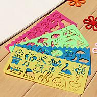 저렴한 $ 0.99 이하-아이들의 쉬운 드로잉 눈금자 (무작위 색깔)