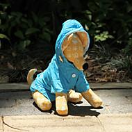 Hund Regnfrakk Hundeklær Vandtæt Solid Oransje Rose Blå Kostume For kjæledyr