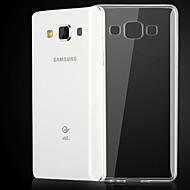 Недорогие Чехлы и кейсы для Galaxy А-Кейс для Назначение SSamsung Galaxy Кейс для  Samsung Galaxy Прозрачный Кейс на заднюю панель Сплошной цвет ТПУ для A3