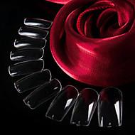 100pcs klare naturlige franske negle tips falske akryl nail art tips til nail art dekorationer