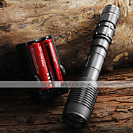 UltraFire LED Flashlights LED 2000 lm 5 طريقة Cree XM-L T6 مع البطاريات والشاحن زوومابلي Adjustable Focus Camping/Hiking/Caving Everyday