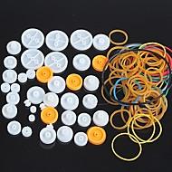 tanie Akcesroia Arduino-Pakiet plastikowe koło pasowe kombinacji kół pasowych podłubać Zestaw małe akcesoria