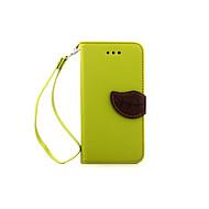 billige -Etui Til Apple Etui iPhone 5 iPhone 6 iPhone 6 Plus iPhone 7 Plus iPhone 7 Kortholder Lommebok med stativ Flipp Heldekkende etui Helfarge