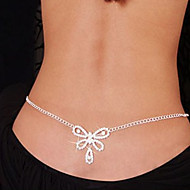 Belly Chain / Body Chain - Imitation Diamond Heart, Bowknot Ladies, Unique Design, Fashion Women's White Body Jewelry For Christmas Gifts / Daily / Casual / Rhinestone