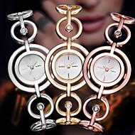 ASJ Dame Moteklokke Selskapsklokke Japansk Quartz Rustfritt stål Legering Band Elegant Armring Sølv Gylden Rose Gull