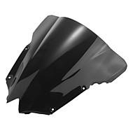 Недорогие Запчасти для мотоциклов и квадроциклов-мотоцикл лобовое стекло ветер щит экран черный для Yamaha r6 08-09