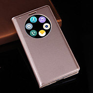 For LG Case with Stand / with Windows Case Full Body Case Solid Color Hard PU Leather LG