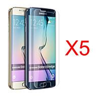 olcso Samsung képernyővédők-Képernyővédő fólia Samsung Galaxy mert S6 edge PET Kijelzővédő fólia High Definition (HD)