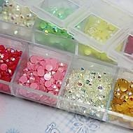 2500 pcs Ozdoby na nehty Imitace drahokamů nail art manikúra pedikúra Denní Abstraktní / Svatba / Módní / Akrylát / Nehtové šperky