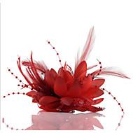 abordables Tocados-Raso Perla Artificial Tela de Encaje Fascinators Flores Para la Cabeza Guirnaldas with Flor 1pc Boda Ocasión especial Casual Al aire libre
