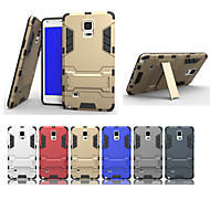 cheap Cases / Covers for Samsung-Case For Samsung Galaxy Samsung Galaxy Note Shockproof with Stand Back Cover Armor PC for Note 5 Edge Note 5 Note 4