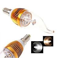 E14 LED-kaarslampen 4LED COB 200-300 lm Warm wit Koel wit 2800-3500/6000-6500 K AC 85-265 V