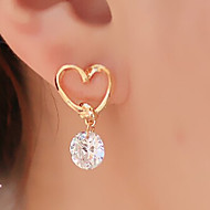 Недорогие $0.99 Модное ювелирное украшение-Жен. Серьги-слезки - Сердце Классический, Мода Золотой Назначение Для вечеринок / Повседневные