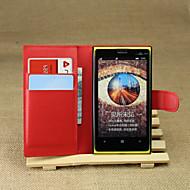 Varten Nokia kotelo Lomapkko / Korttikotelo / Tuella Etui Kokonaan peittävä Etui Yksivärinen Kova Tekonahka Nokia Nokia Lumia 1020