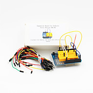 プロトシールドUNO R3拡張ボード+ブレッドボードジャンパ(65-ケーブルパック)