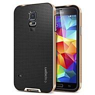 Недорогие Чехлы и кейсы для Galaxy S-Для Кейс для  Samsung Galaxy Защита от удара Кейс для Задняя крышка Кейс для Один цвет Силикон Samsung S5