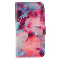 Varten Samsung Galaxy kotelo Lomapkko / Korttikotelo / Tuella / Flip Etui Kokonaan peittävä Etui Maisema Tekonahka Samsung J7 / J5
