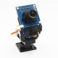 povoljno -2-os FPV kamera kolijevka glava + ov7670 kamera postavljena za robota / R / C automobila - crni + plava
